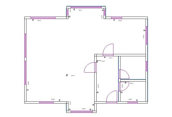 Načrti za montažo hiše